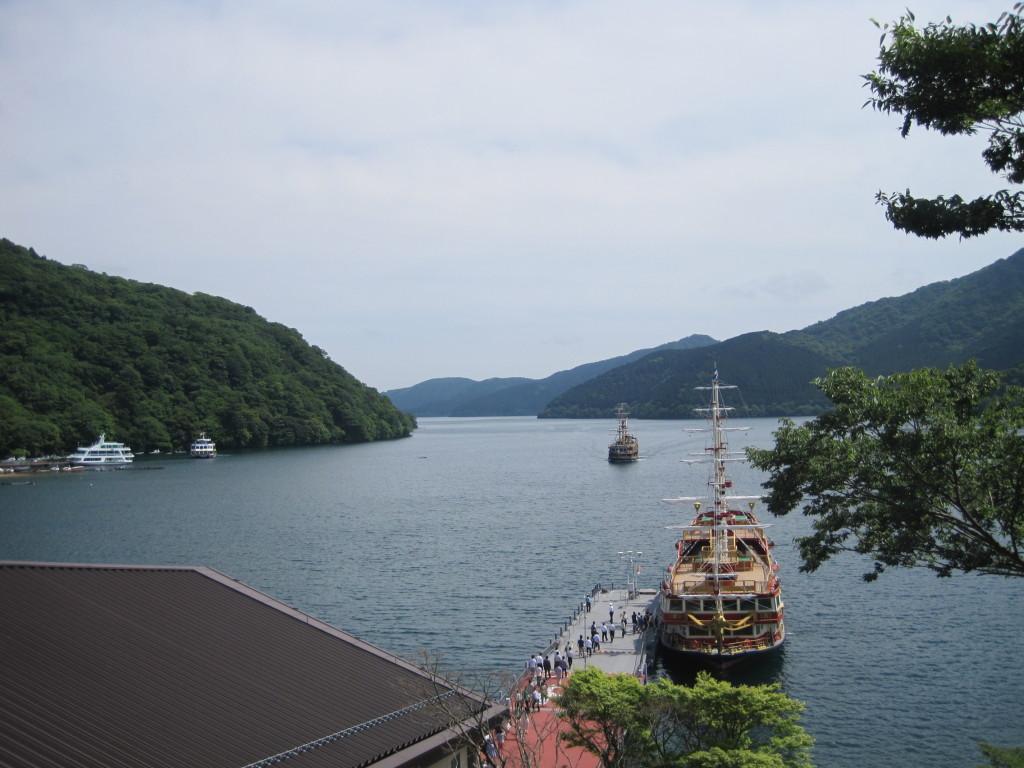 Ferry on Lake Ashi in Hakone, Japan