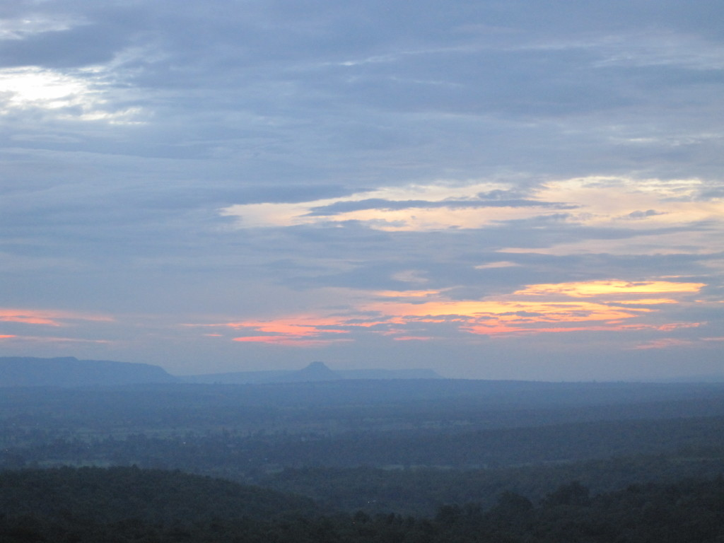Sunrise at Sakaerat Environmental Research Station