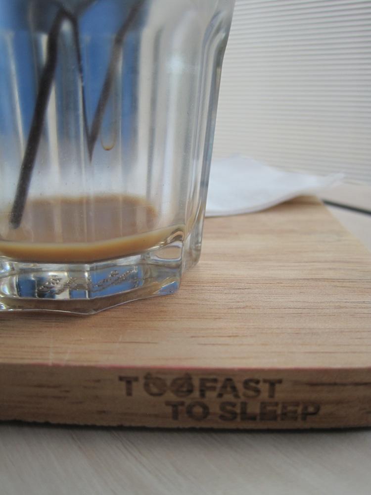 Too Fast Thai coffee glass