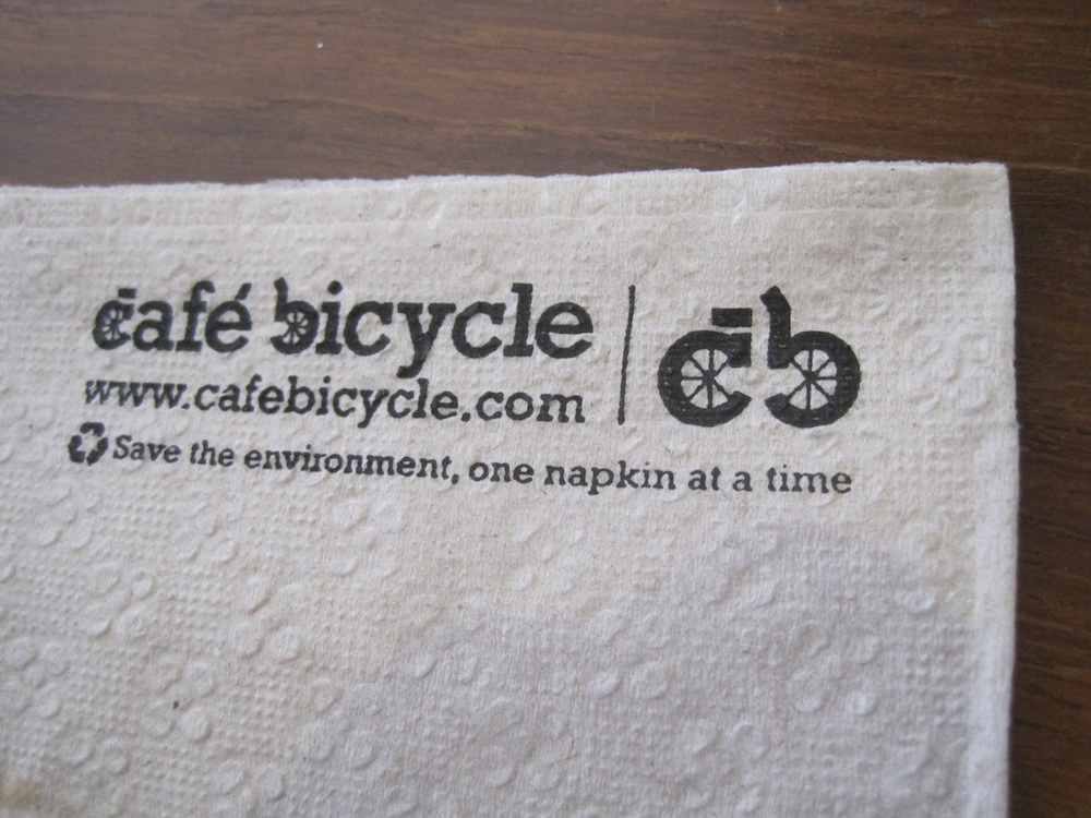 Cafe Bicycle napkin