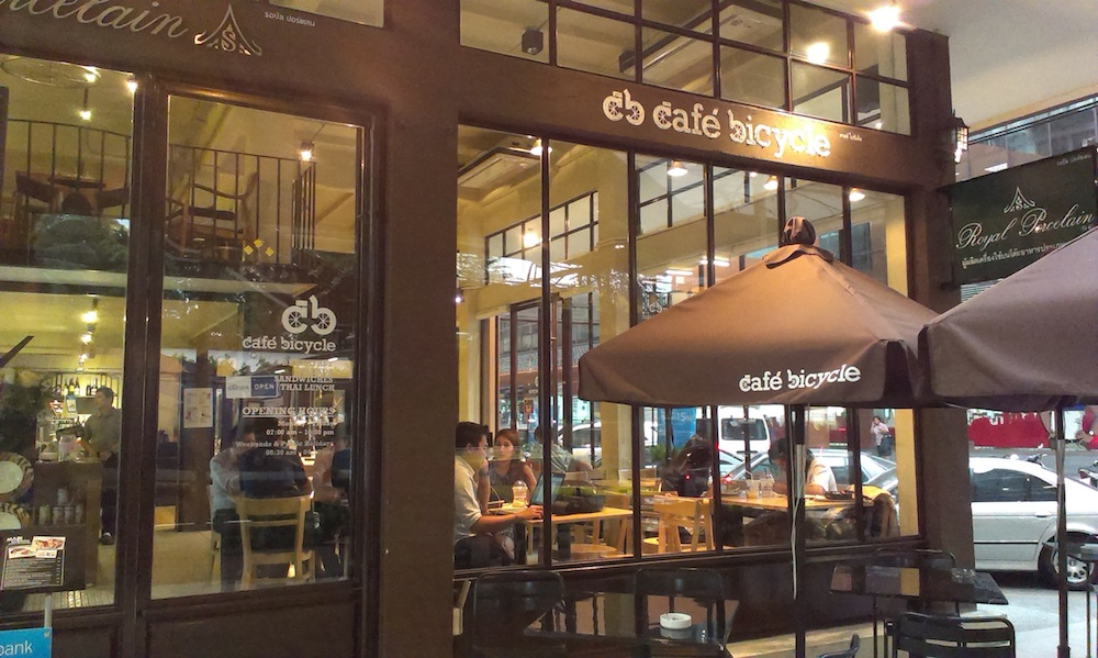 Cafe Bicycle near Phloen Chit BTS station in Bangkok