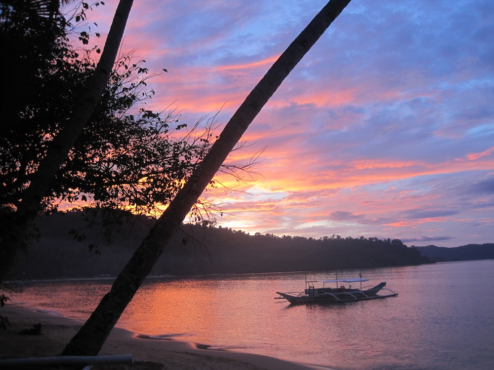 Sunset in Port Barton, Palawan, The Philippines