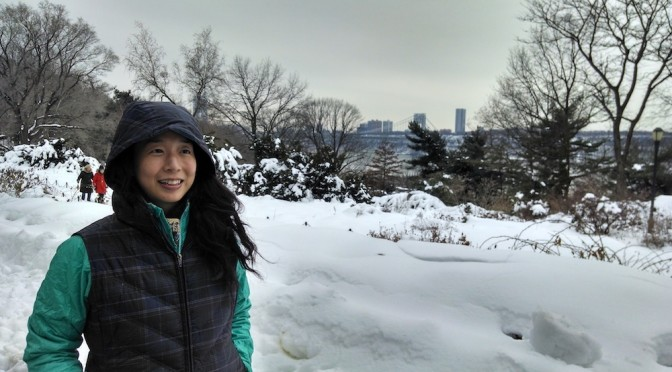 Me at Fort Tyron Park, New York (full image)