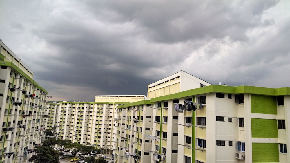 Thunder clouds in Singapore
