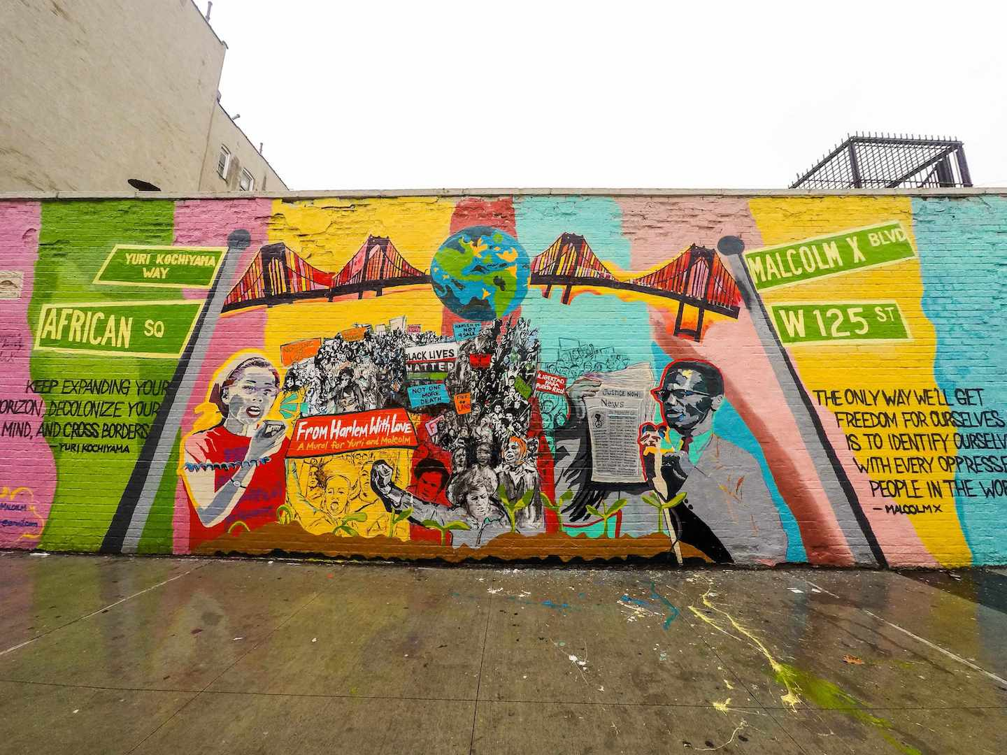Street mural in New York City
